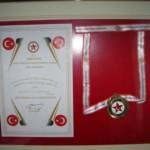 Derneğimiz adına Başkanımız Musa AKKAYA verilen madalya ve beratlar  (6)